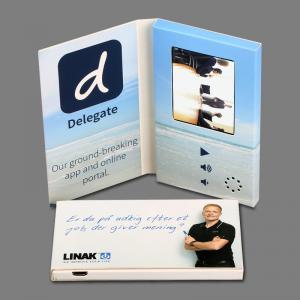 Cheap A5 Size Landscape Bespoke Lcd Video Brochure Card 4.3 Inch Screen Custom for sale