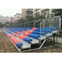 Fixed Aluminum Outdoor Bleachers / Bottom Stable Temporary Stadium Seating