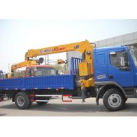 Cheap Durable Heavy Things Lifting Telescopic Boom Truck Mounted Crane , 6.3T for sale