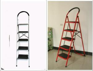 Double Sided 5 Step 1.54m Metal Folding Step Stool Manufactures