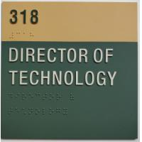 "Thermoformed 6""X6"" Braille Tactile Signs , Room ID ADA Braille Guidelines Manufactures"