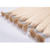 Gold Color 20 Inch Remy Hair Extensions Steam Processed With Full Cuticle Manufactures