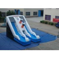 Digital Printing Commercial Inflatable Water Slides  0.55mm Pvc Tarpaulin 9 X 5.7 X 5.7m Manufactures
