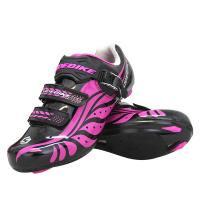 Custom Ladies Cycle Touring Shoes Good Ground Holding Nylon+Tpu Sole Manufactures