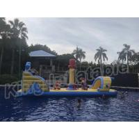Commercial Floating Kids Inflatable Water Parks With Slide , Customized Color Manufactures