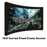 Movie Cinema 16:9 Front Projection Screen 92inch Arc Fixed Frame Projector Screens Manufactures