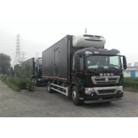 Professional Refrigerated Closed Van Truck White / Red / Black Freezer Box Truck Manufactures