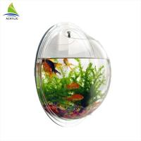 Modern Acrylic Shop Display Customized Wall Mounted Clear Round Acrylic Fish Tank Manufactures