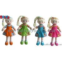 "11.8""Wholesale Plush Girl 3D Doll Toy As First Gift For baby Manufactures"