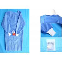 Waterproof Blue Medical Disposable Isolation Gown Breathable 48gsm Manufactures