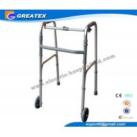 Collapsible Aluminum Alloy Rolling Folding Rollator Walker Paddle with Two Castors Manufactures