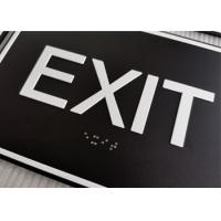 "ADA Compliant Braille Exit Sign Grade II Braille 1/32"" Raised Text With Border Manufactures"