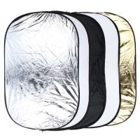 5 in 1 Portable Photography Studio Multi Photo Collapsible Light Reflector 60 x 90cm