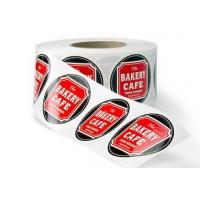 Matte Chrome Bopp Labels , Custom Roll Label Stickers For Coffee Packaging Manufactures