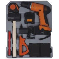Quality 147Ppcs Drill Screwdriver Multifunction Household Cordless Power Tool Set with for sale