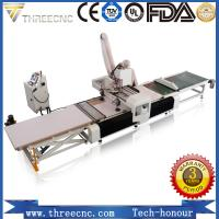 China Loading and unloading CNC router machine for furniture producing line. THREECNC on sale