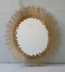 Cheap Oval Iron Mirror Wall Decor, 76 * 100cm Bathroom Mirror Wall Stickers Decor for sale