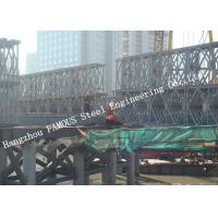 HD200 Double Row Deck Type Modular Steel Bailey Bridge Hoisting Installation In Site Manufactures