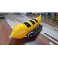 Quality 3 Seats Inflatable Water Banana Boat With 0.9mm PVC Tarpauline Material for sale
