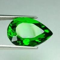 Normal Faceted Natural Chrome Diopside For Gemstone Jewelry 5x3mm Manufactures