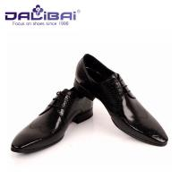 China DALIBAI Luxury Pointed Toe Men Leather Dress Shoes Classic Business Shoes on sale