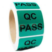 QC Pass Security Sticker Labels , Custom Shape Security Seal Stickers Eco friendly Manufactures