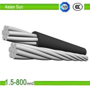 1KV XLPE/PVC Insulation, AluminumAlloyConductorABC AerialBunchCable Manufactures