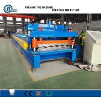 828 Type Glazed Steel Step Roof Tile Roll Forming Machine With Mitsubishi PLC Control Manufactures