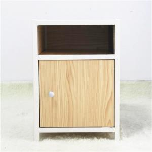 Customized SGS 510mm Wood Metal Bedside Table Manufactures