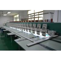 "1200RPM flat bed High speed 24 heads Embroidery Machines with Dahao 366 8"" LCD Computer Manufactures"