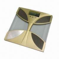 Digital Body Fat and Water Monitor with Safety Glass Platform, Foot Tap Switch and 1.25-inch LCD Manufactures