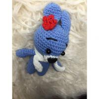 Knitted Blue Bunny Handmade Soft Toy for newborn photography Manufactures