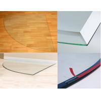 Tempered Glass Hearth Plate Transparent Impact Resistance 8mm Manufactures