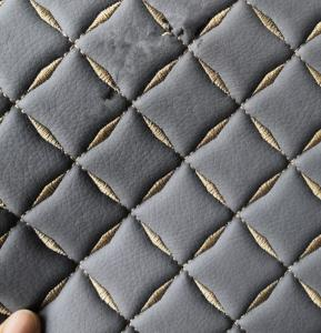 ROHS Grey Color 1.0mm 137cm Pvc Fake Leather for Car Seat Cover Manufactures