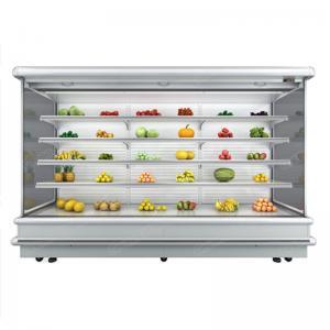Fan Cooling Refrigerated  Fruit Vegetable Multideck Open Chiller Manufactures