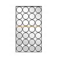 Modern design rectangle shape mixed circle decorated metal Iron framed mirror Manufactures