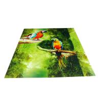 Parrot Pattern Green Plastic Commercial Ceiling Panels No Cracking Manufactures