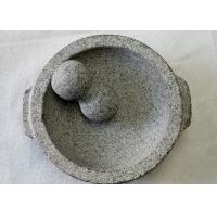 China Food Safe Stone Mortar And Pestle Molcajete Guacamole With Handles on sale