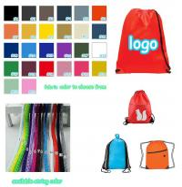 Customized logo Printed fast dry drawstring bag