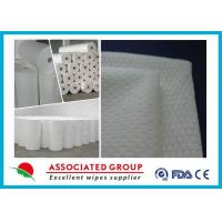 Cheap Extra Soft Hydrophilic White Spunlace Nonwoven Fabric No Chemical binder for sale