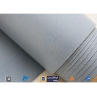 0.28mm Grey PVC Coated Fiberglass Clothing Plain Weave For Fireproof Tent Manufactures