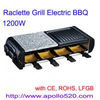 European Style Raclette Grill with half grill stone Manufactures
