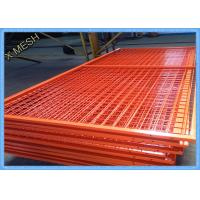 Orange Wire Mesh Fence Panels , Framed Welded Wire Fabric Corrosion Resistant Manufactures