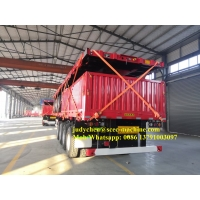 Sinotruk 45t Side Wall Cargo Heavy Duty Semi Trailers Tri  Fuwa Axles Manufactures