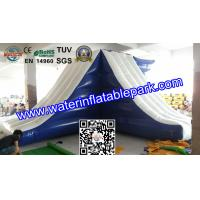 Lake Inflatable Floating Water Slide / Inflatable Water Games Float Climb And Slide Manufactures