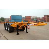Buy cheap Flatbed Shipping Container Delivery Trailer High Efficiency For Port Transport from wholesalers
