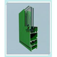 Anodized / Powder Coated Window Aluminum Profile Green Color ISO Certification Manufactures