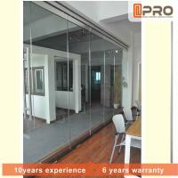 China Sturdy Commercial Office Partitions Aluminium Frame And MDF Panel Pattern on sale