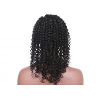 Natural Color Kinky Curly Human Hair Full Lace Wigs Without Shedding Or Tangling Manufactures