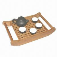 Buy cheap Ceramic Tea Set with Bamboo Tea Tray, Classical and Fashionable Styles from wholesalers